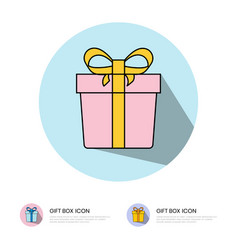 Gift box icon for mobile apps or website vector