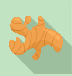 Ginger icon flat style vector