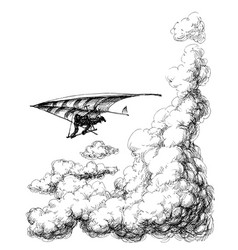 glider up in sky vector image