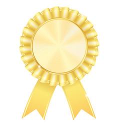 Golden award badge vector