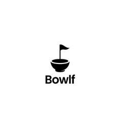 golf bowl logo design concept vector image