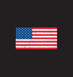 Grunge usa flag on black background vector