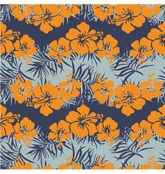 Hibiscus flowers seamless pattern vector image