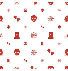 Horror icons pattern seamless white background vector