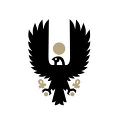 Horus eagle falcon bird egyptian logo icon vector