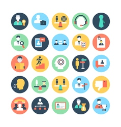 Human Resources Colored Icons 4 vector