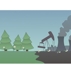 Industry versus nature vector