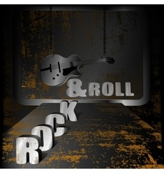 Iron background music and guitar on chains vector image