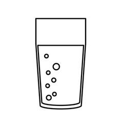 Juice glass cup vector