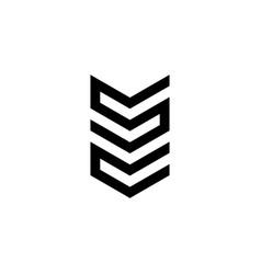 letter s c logo vector image