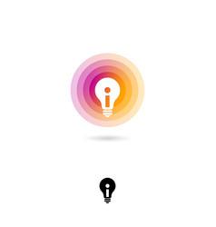 Light bulb ui icon idea emblem energy saving sys vector
