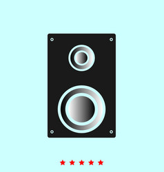 loud speaker set it is color icon vector image