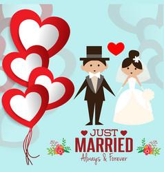 Lovely sweet couple wedding vector