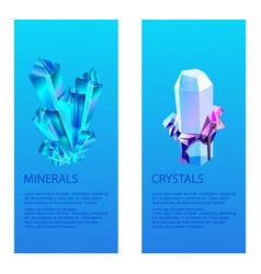 mineral crystalic precious stones vector image