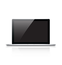 modern glossy laptop isolated on white eps10 vector image
