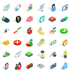 Mouse click icons set isometric style vector