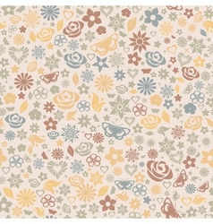 multicolored seamless pattern flowers vector image