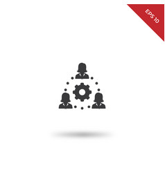 networking icon vector image