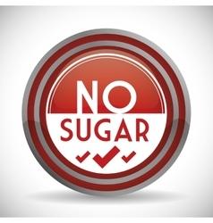 No sugar or sugar free vector image