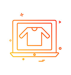 online shopping icon design vector image