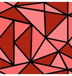 Pattern with red triangle vector image