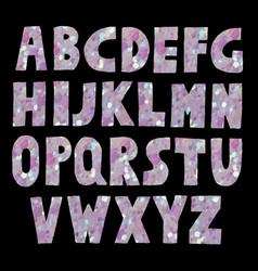 pink glitter sparkling font vector image