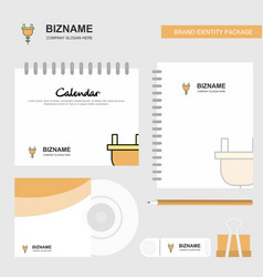 plough logo calendar template cd cover diary and vector image