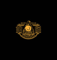 Railway logos for beer products retro vintage vector