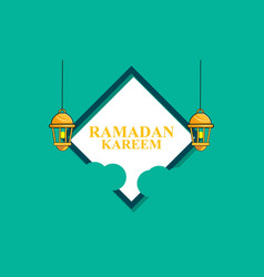 Ramadan kareem gift card ornament vector