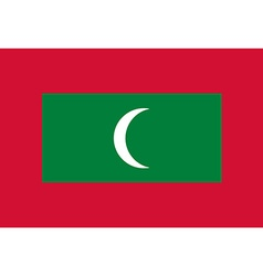 Rectangular Maldives flag vector image