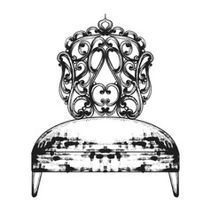 rich baroque chair royal style furniture vector image