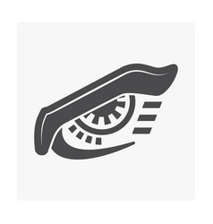 robotic eye icon vector image
