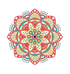 Round mandalas in graphic template for vector