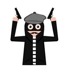 Sad thief cartoon vector