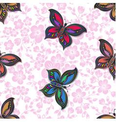 sakura flower seamless pattern vector image