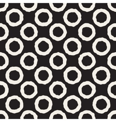 Seamless black and white jumble circles vector