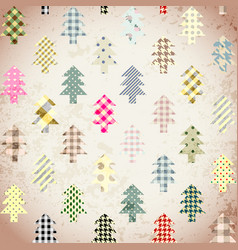 seamless christmas background in patchwork style vector image