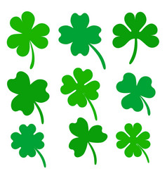 Set four and three leaf clover stock vector