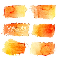 set of watercolor background with paper texture vector image