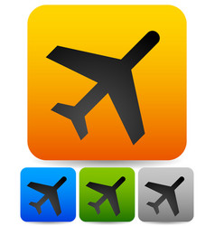 simple plane flight icons vector image