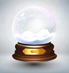Snow Globe Background vector image