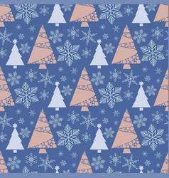 Snowflake winter christmas tree holiday fir-tree vector