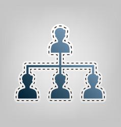 Social media marketing sign blue icon vector