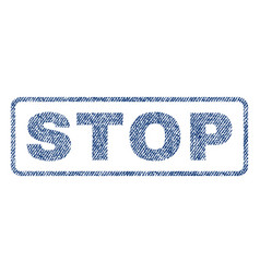 Stop textile stamp vector