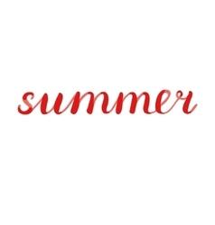 Summer brush lettering vector