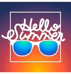 Summertime rbackground with sunglasses and text vector