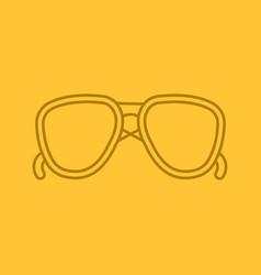 Sunglasses color linear icon vector
