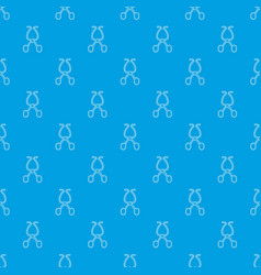 surgical scissors pattern seamless blue vector image