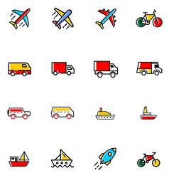 tranportation icon vector image