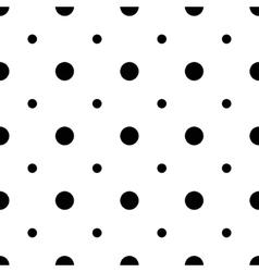 Unusual big and small polka dot seamless pattern vector